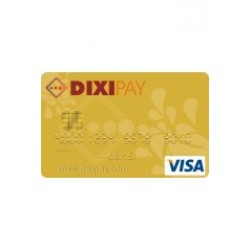 DIXIPAY Prepaid Visa Card (Global - $6 Preloaded)