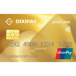 DIXIPAY UnionPay Card & EU Bank Account (IBAN)